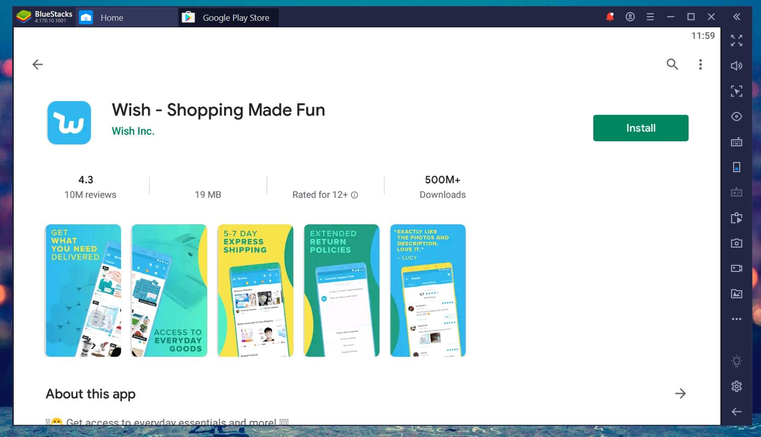 Install Wish Shopping App from Play Store on Your Windows PC or Mac Using Android Emulator