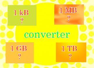B KB MB GB TB converter