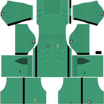 Brazil Goalkeeper Away Kit