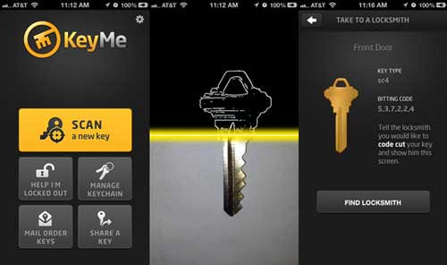 KeyMe iOS ap