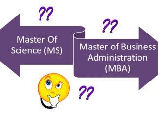 MBA Vs MS