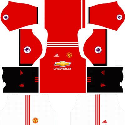 Manchester United Team Home Kit