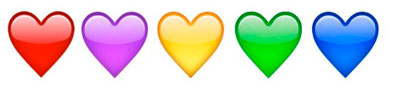 Meaning of Emoji Heart Colors