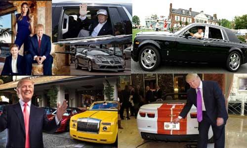 President Donald Trump Car