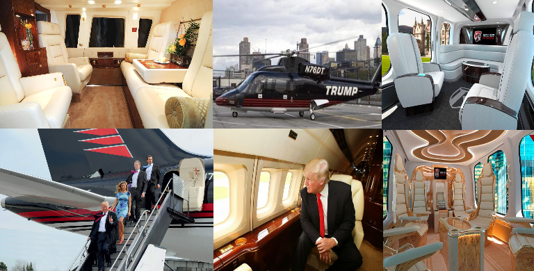Trump Helicopter Interior