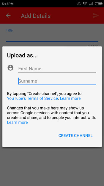 Youtube-Video-Upload