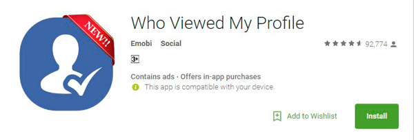 Who Viewed My Facebook Profile Android App
