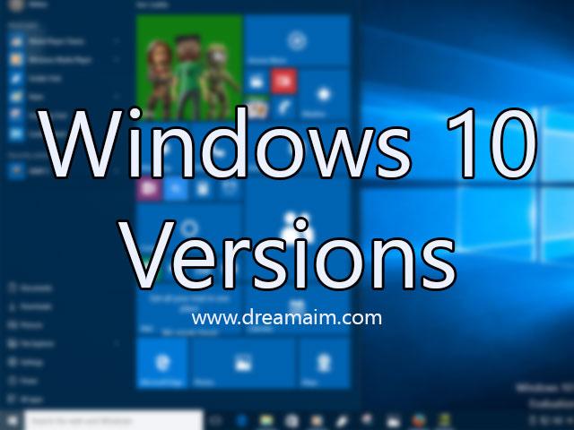 Windows 10 Build, Version Information